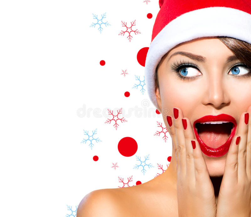 Christmas Woman stock image