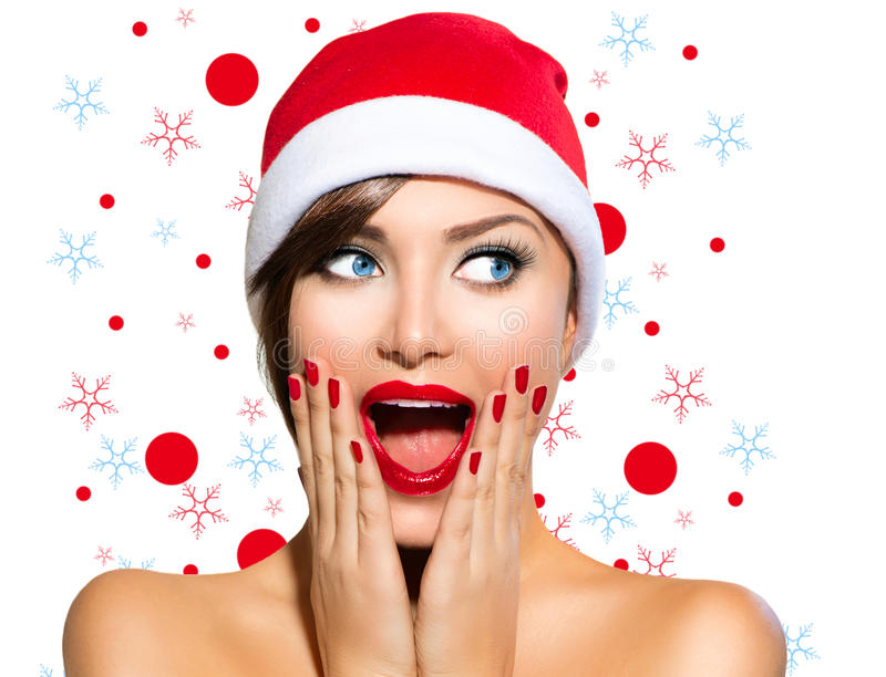 Christmas Woman royalty free stock photos