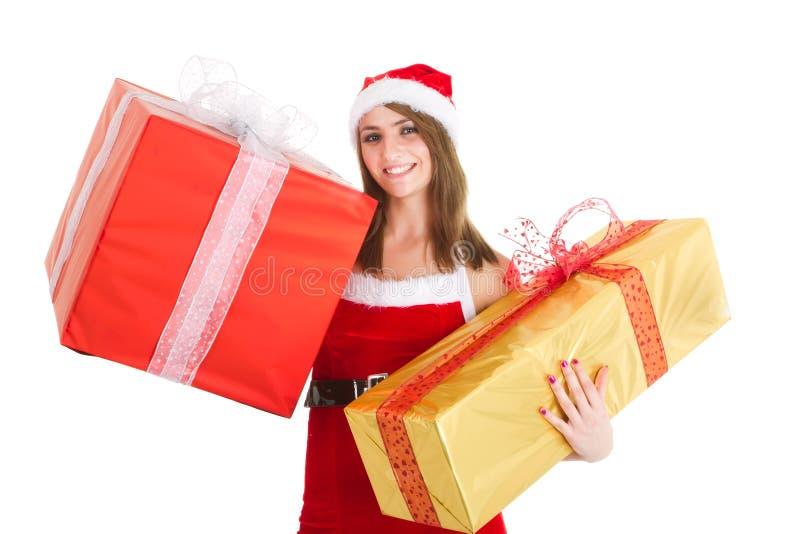 Download Christmas woman gift stock image. Image of christmas - 20964341