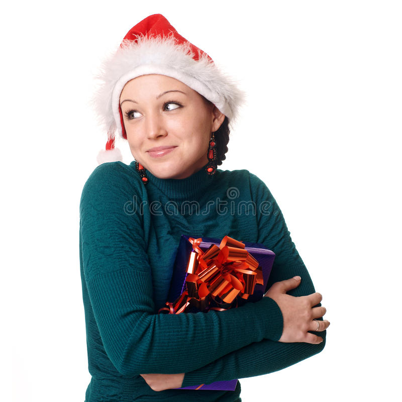 Download Christmas woman smiling. stock photo. Image of young - 12173412