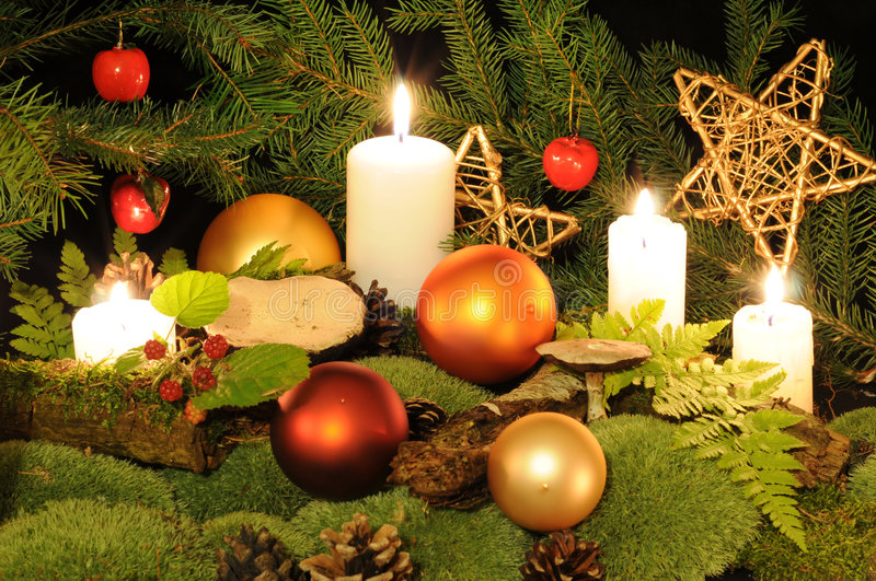 Christmas in the wood royalty free stock photos