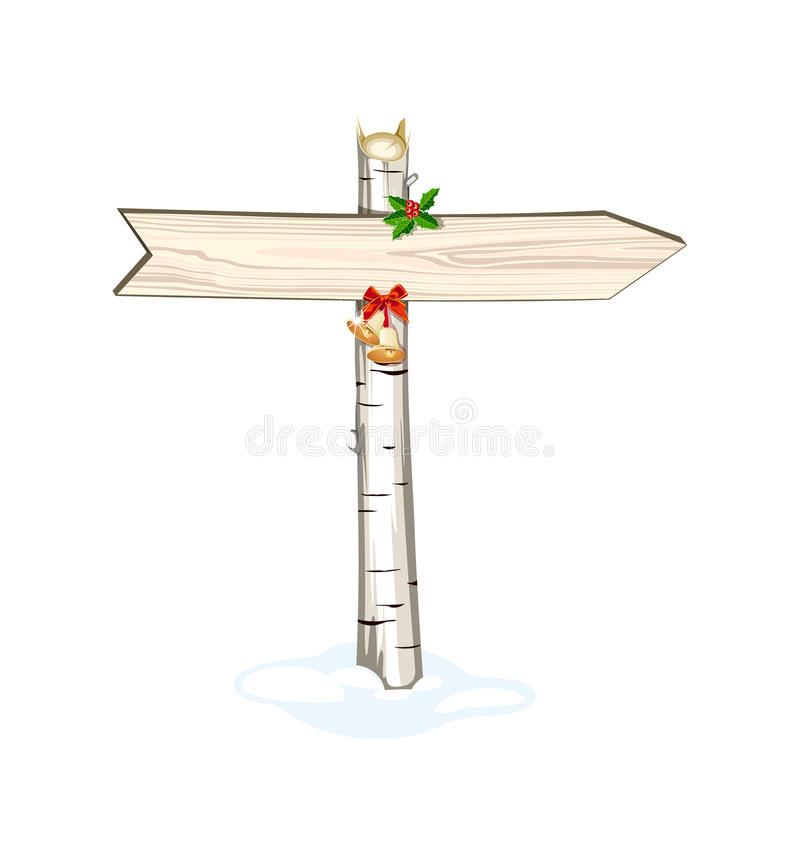 Christmas Wooden Arrow Sign Isolated Royalty Free Stock Photos ...