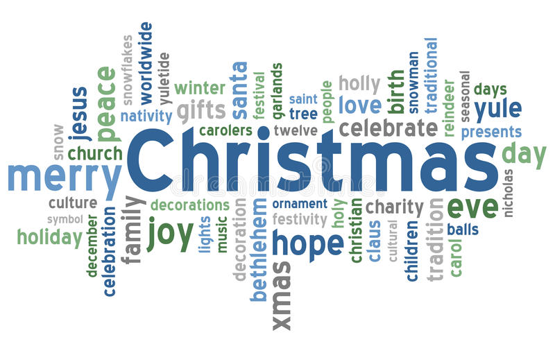 Christmas Word Cloud stock illustration