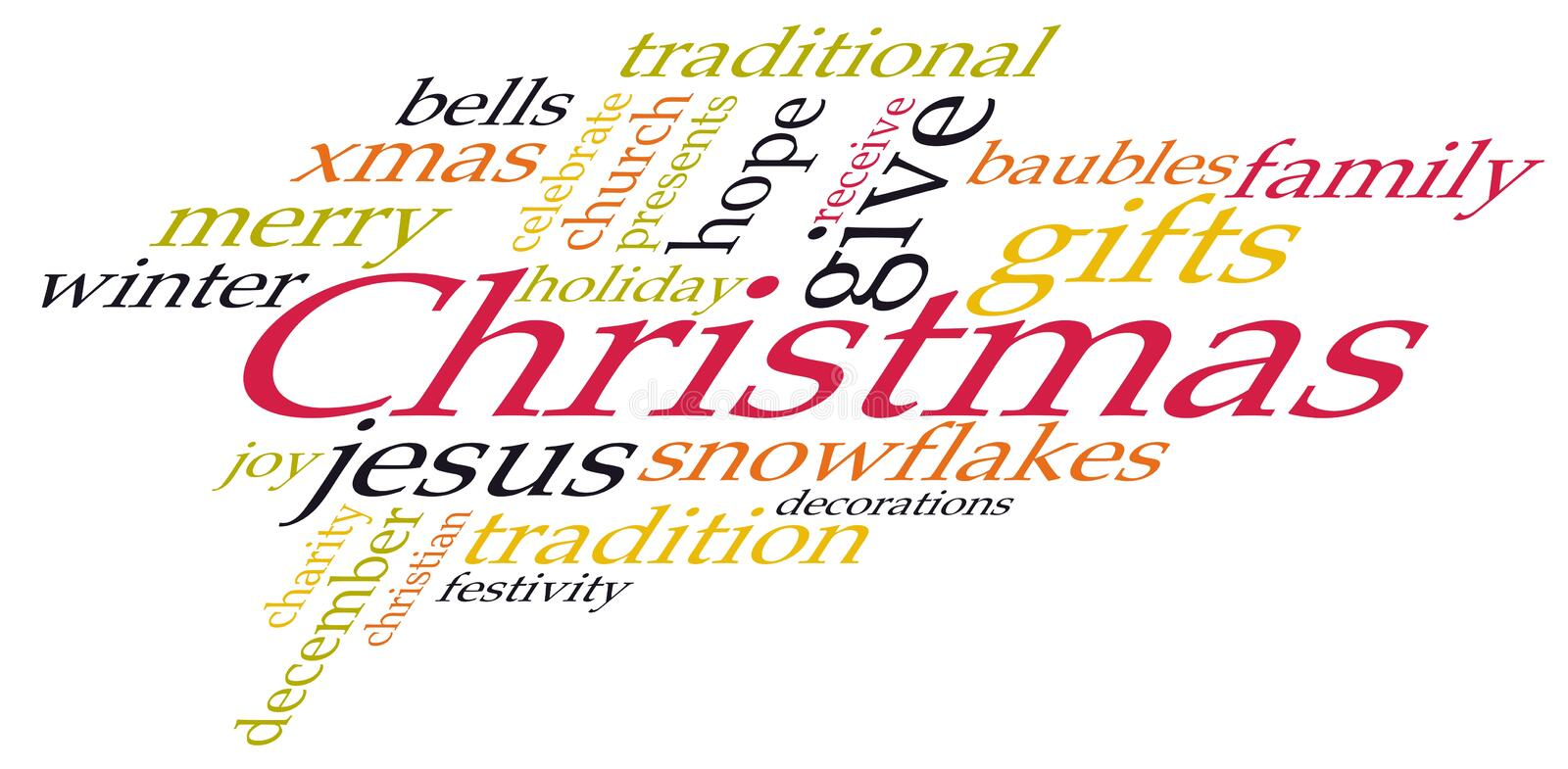 Download Christmas word cloud stock vector. Illustration of collection - 27585350