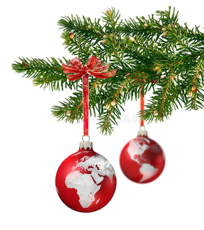 Christmas world branch royalty free stock photos