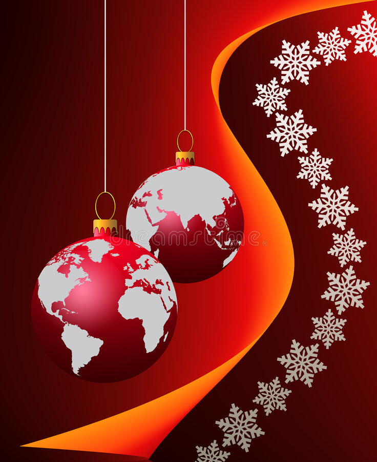 Download Christmas world wide stock illustration. Image of globe - 4305487