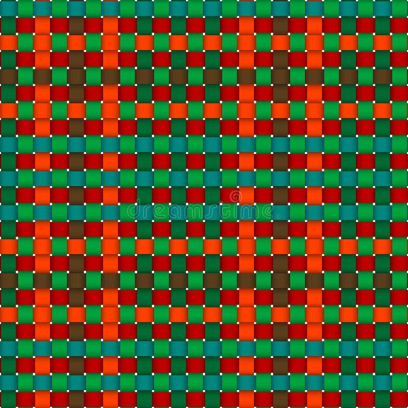 Christmas woven pattern seamless stock illustration