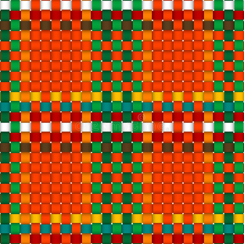 Christmas woven pattern seamless vector illustration