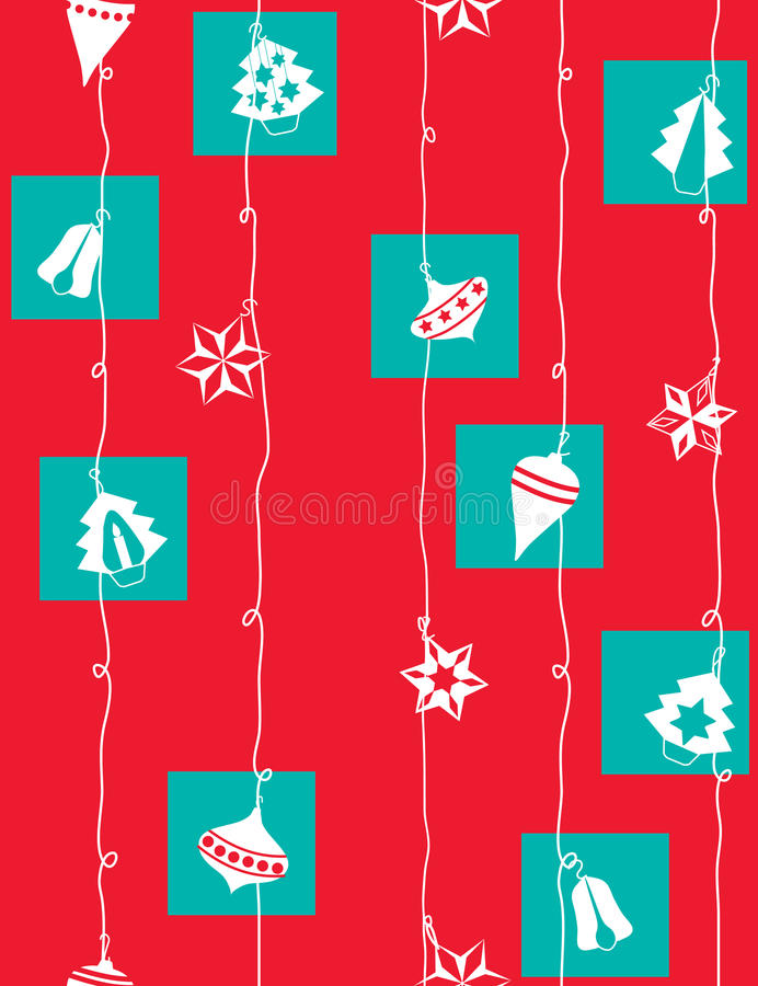 Christmas wrapping paper stock illustration