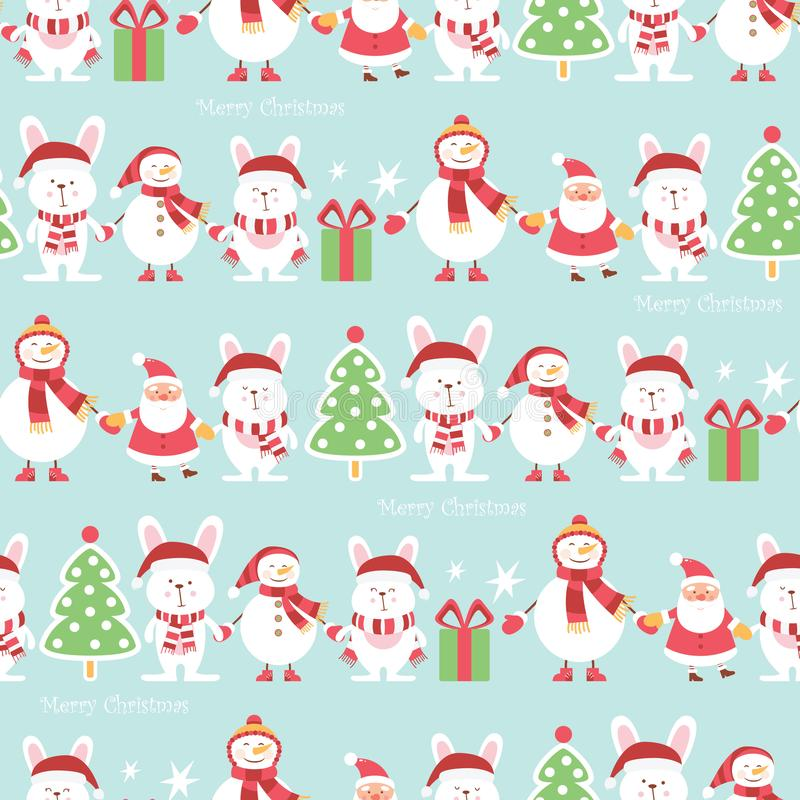 Christmas wrapping paper - seamless texture. Vector illustration.  royalty free illustration
