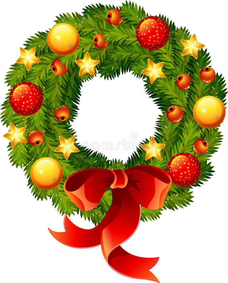 Download Christmas wreath stock vector. Image of circle, floral - 11616203
