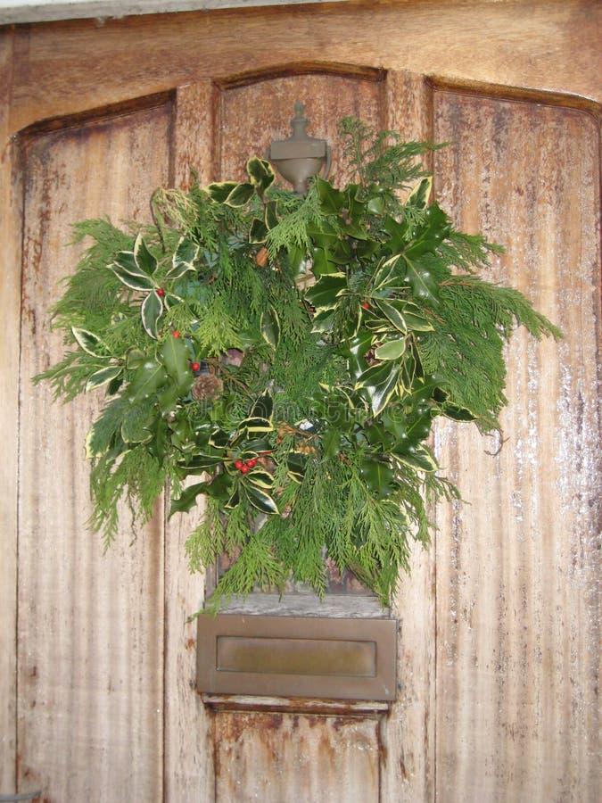Download Christmas Wreath stock image. Image of decor, pine, door - 12292049