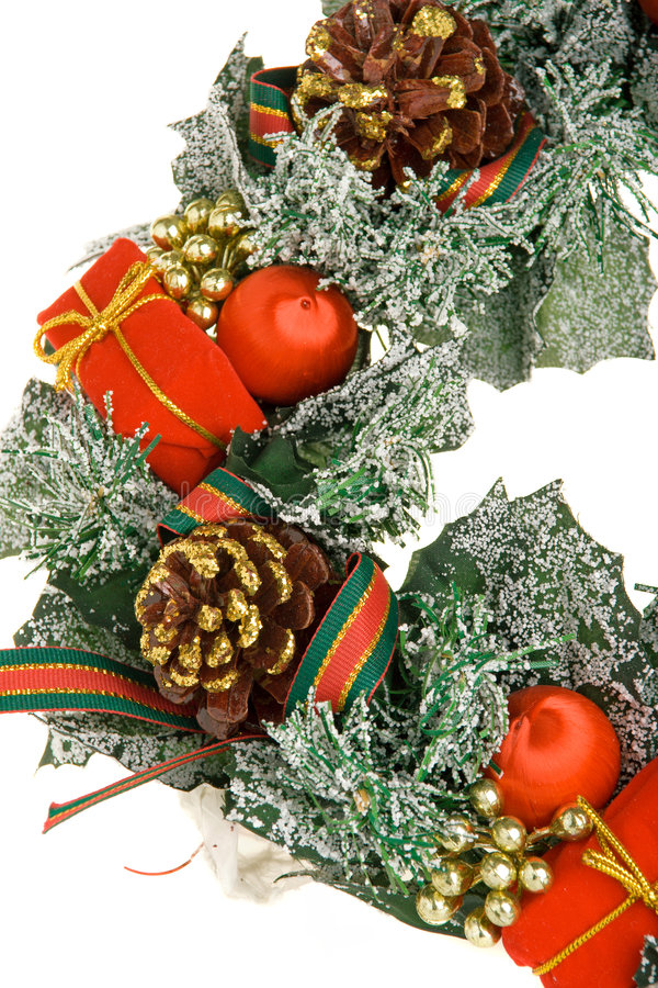 Download Christmas wreath stock photo. Image of embellish, present - 1403148