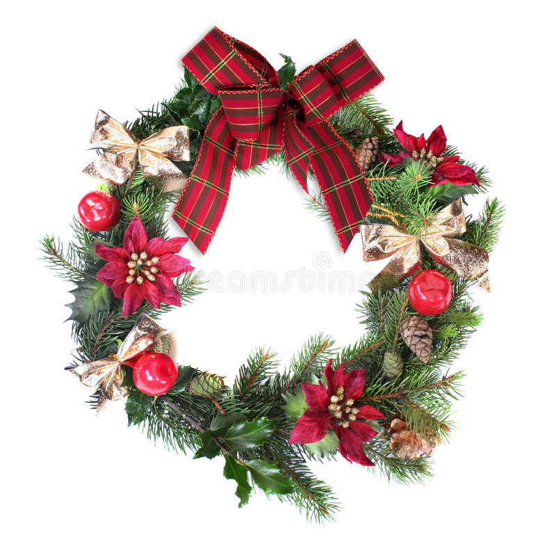 Free Christmas Wreath Royalty Free Stock Images - 1561859