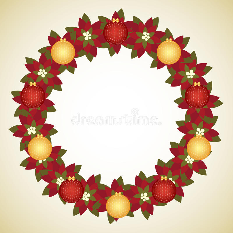 Download Christmas wreath stock vector. Image of festivity, gold - 16453557
