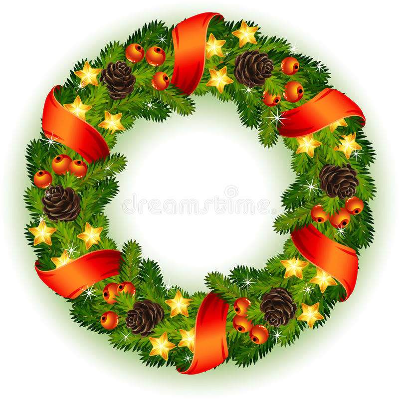 Download Christmas wreath stock vector. Illustration of icon, celebration - 16562465