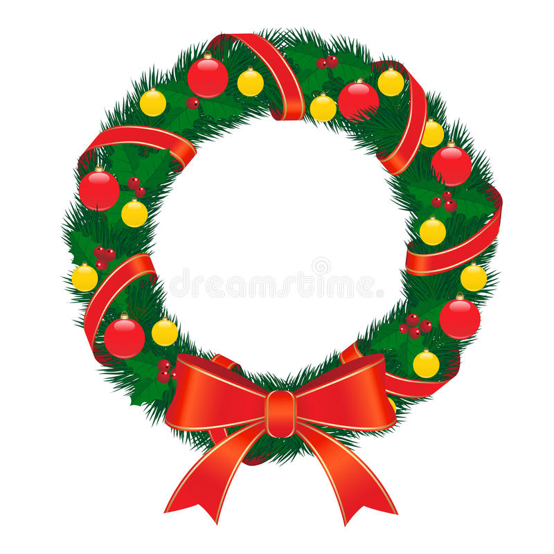 Download Christmas wreath stock vector. Illustration of backgrounds - 17038389