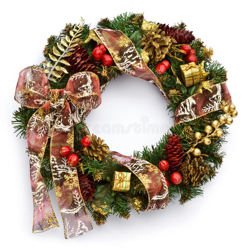 Christmas wreath royalty free stock photo