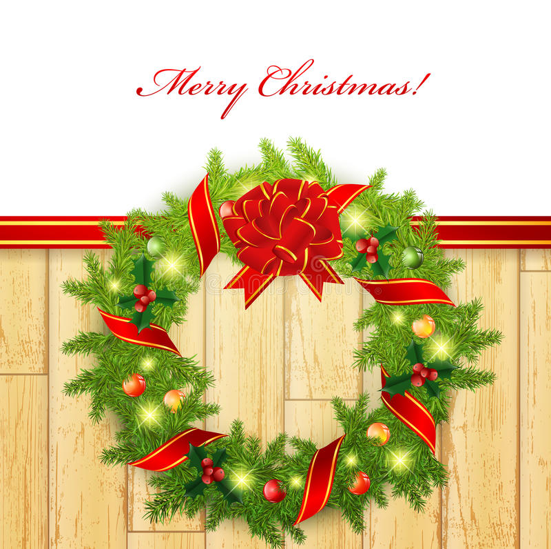 Christmas wreath royalty free illustration