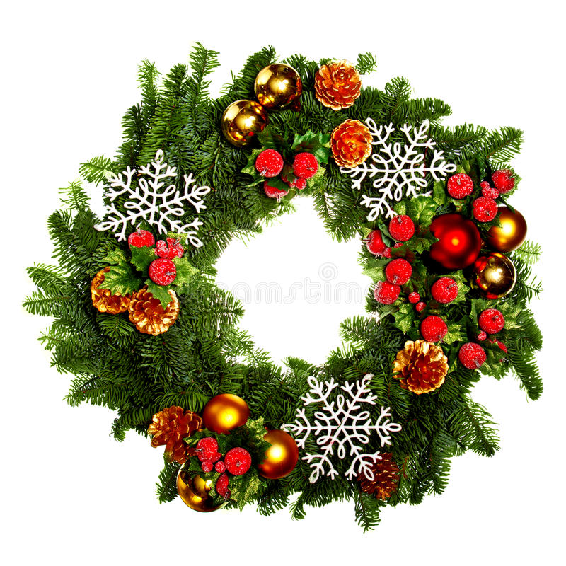 Free Christmas Wreath Royalty Free Stock Photography - 22310677