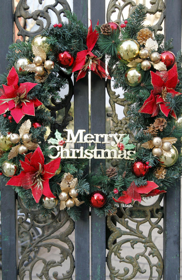 Download Christmas wreath stock image. Image of iron, coniferous - 22557555