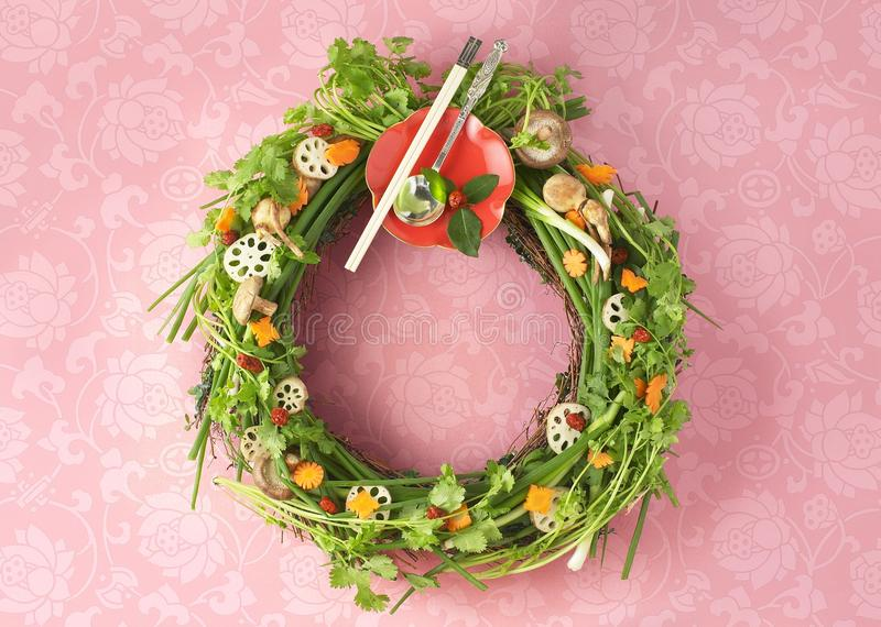 Download Christmas wreath stock photo. Image of festival, greens - 22599138