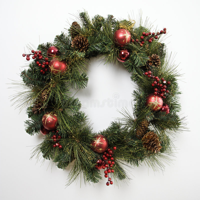 Free Christmas Wreath. Royalty Free Stock Photography - 2425787