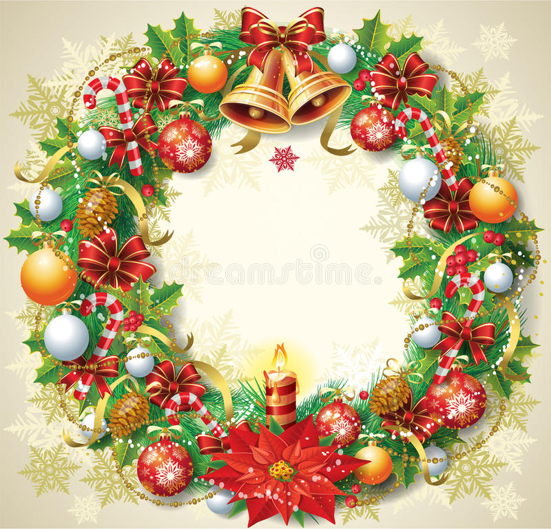 Free Christmas Wreath Stock Photos - 27336033
