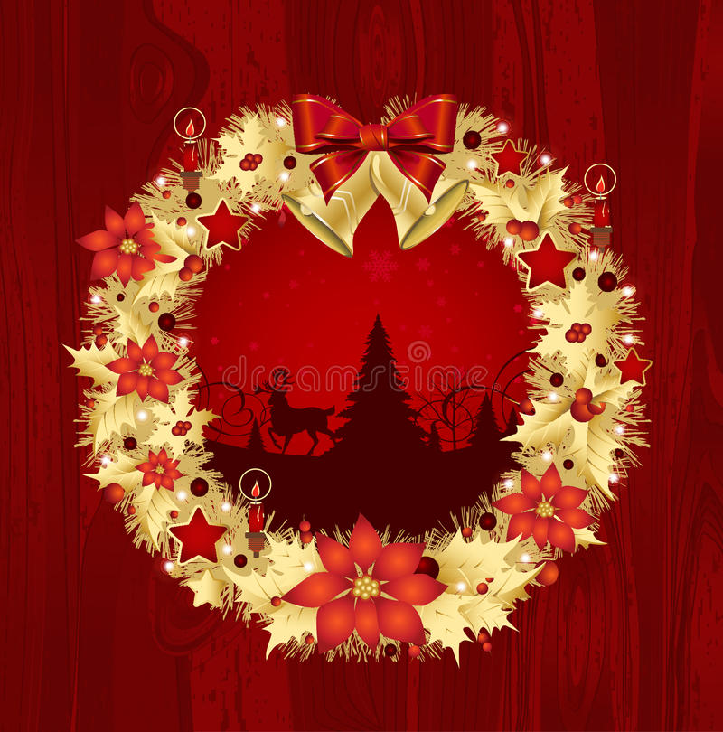 Download Christmas wreath stock vector. Image of element, snow - 27460641