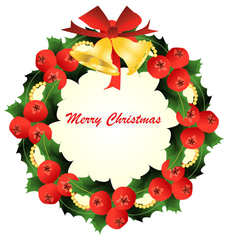 Download Christmas wreath stock illustration. Image of december - 27499220