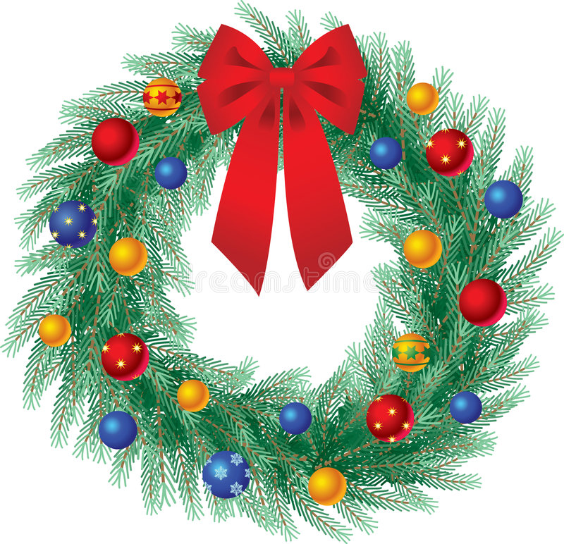 Download Christmas wreath stock vector. Image of spruce, green - 2986762