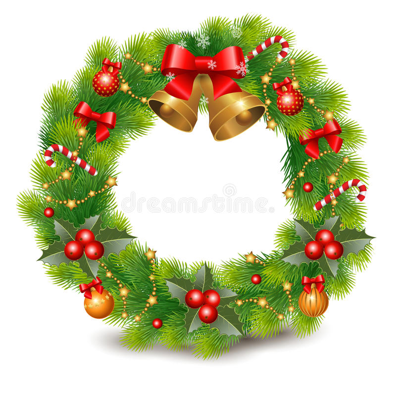 Free Christmas Wreath Stock Photography - 34705312