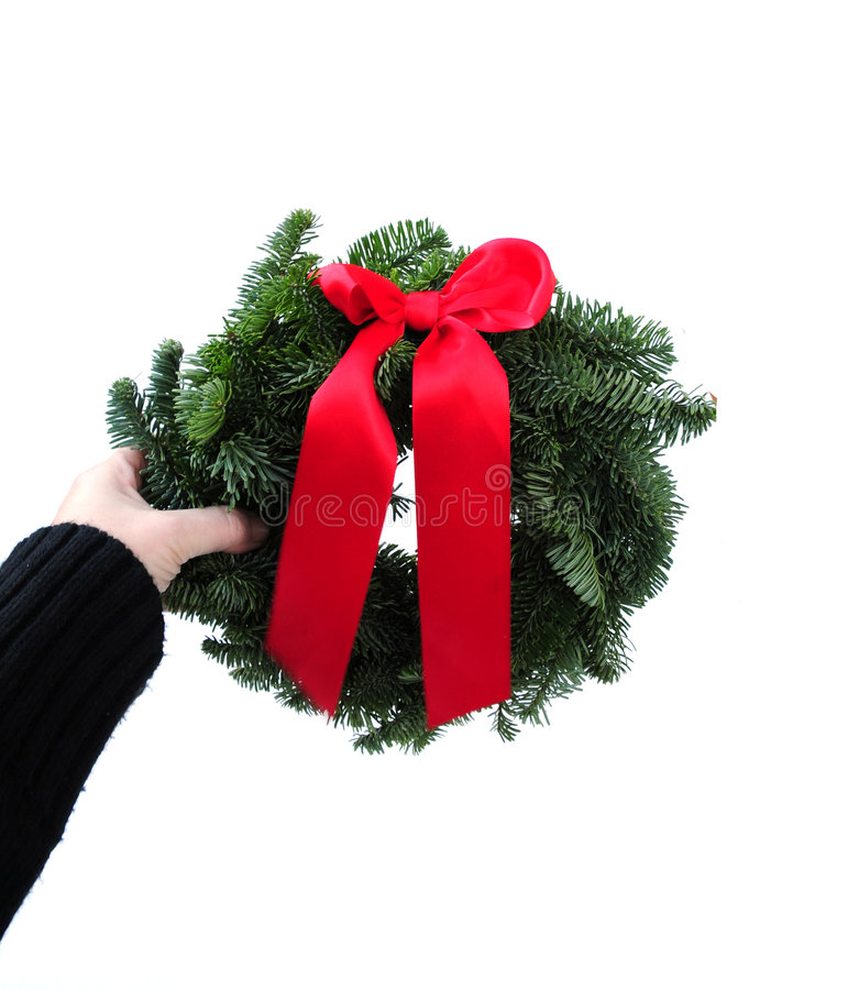 Download Christmas wreath stock image. Image of december, leaves - 7391307