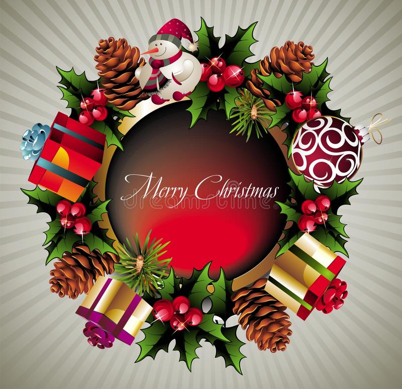 Download Christmas Wreath Background Stock Vector - Image: 17428455