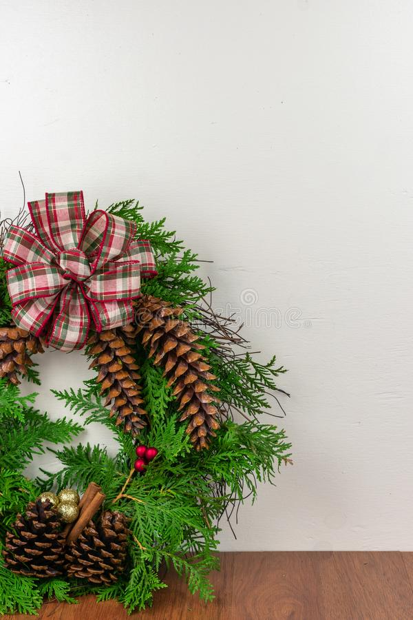 A decorated wreath for Christmas royalty free stock image