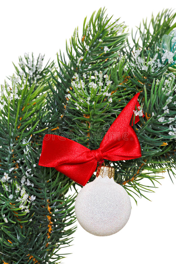 Download Christmas Wreath With Decoration Ball Stock Photo - Image: 27730180