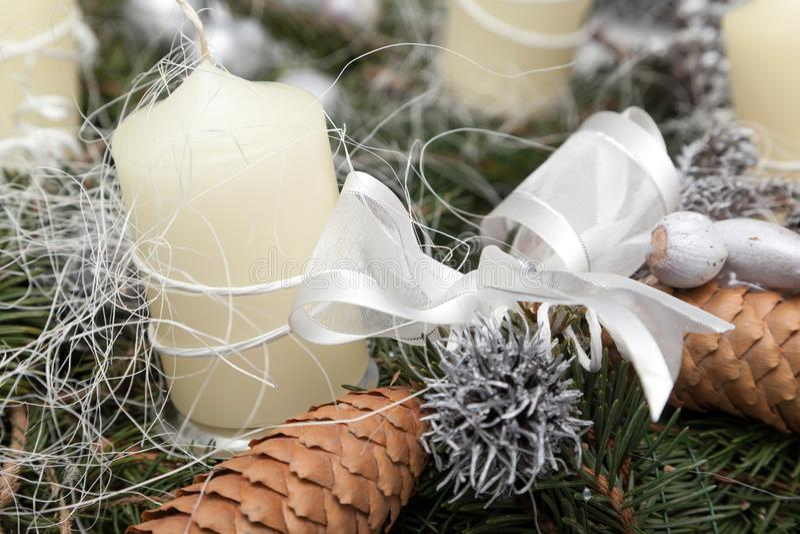 Christmas wreath on white. Christmas wreath decoration on white background royalty free stock photos