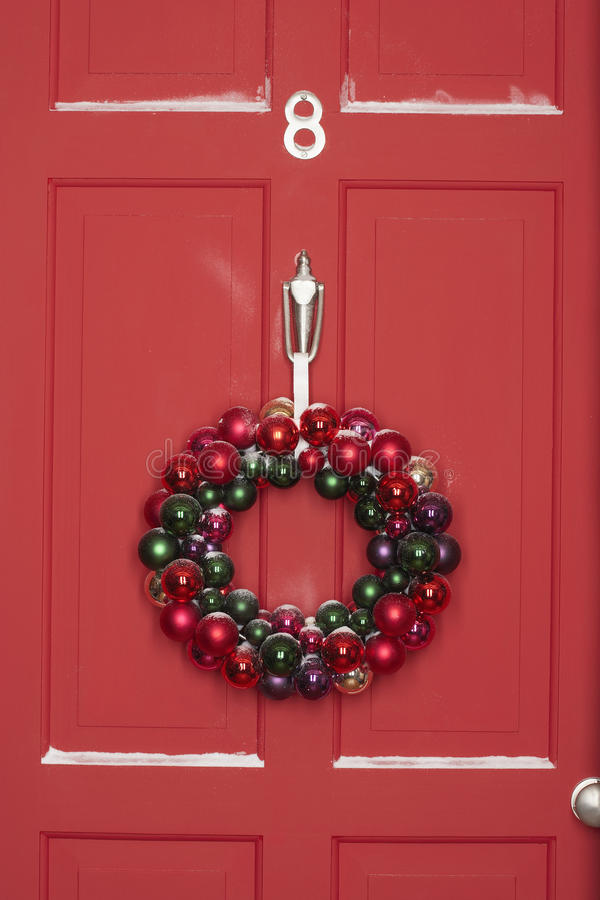 Download Christmas Wreath On Door stock photo. Image of xmas, ornament - 29656850