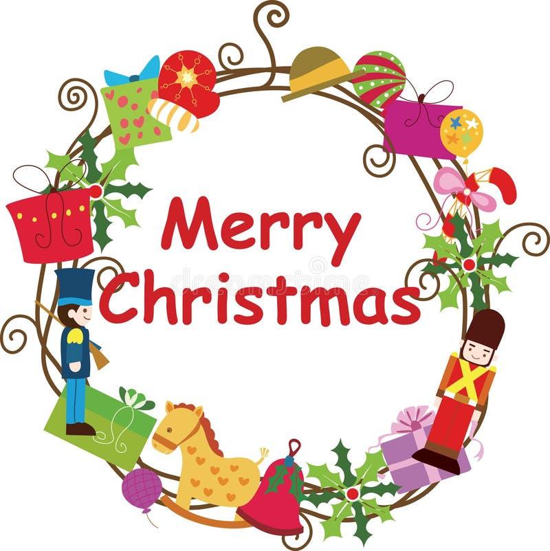 Free Christmas Wreath Frame 2 Royalty Free Stock Photo - 16762645
