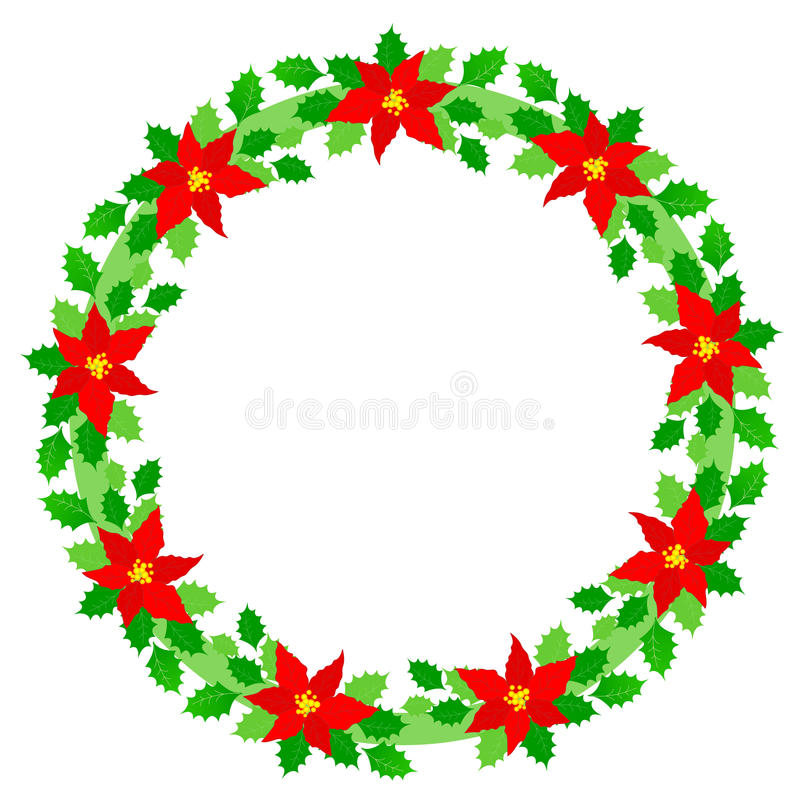 Christmas wreath frame royalty free illustration