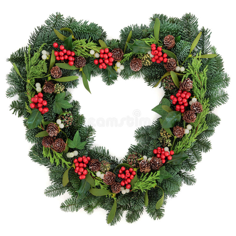 Christmas wreath stock photo image