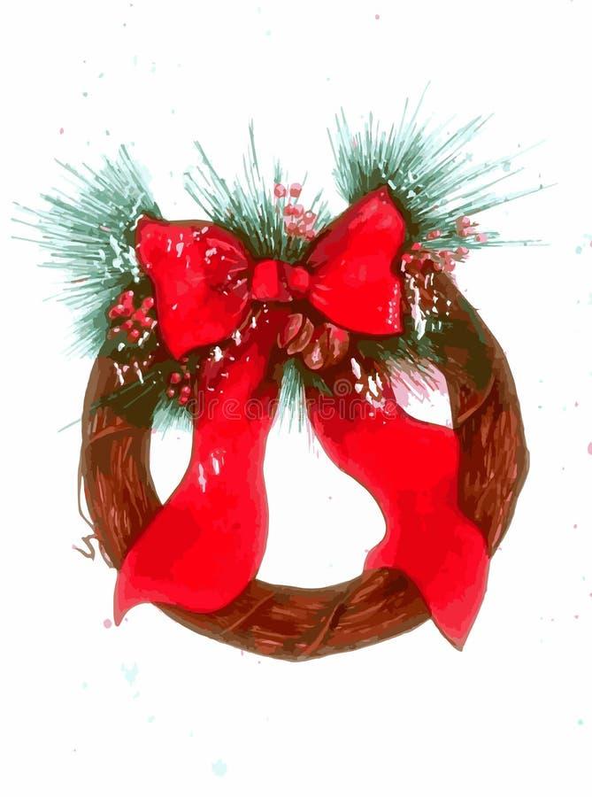 CHristmas Wreath. Illustration stock illustration