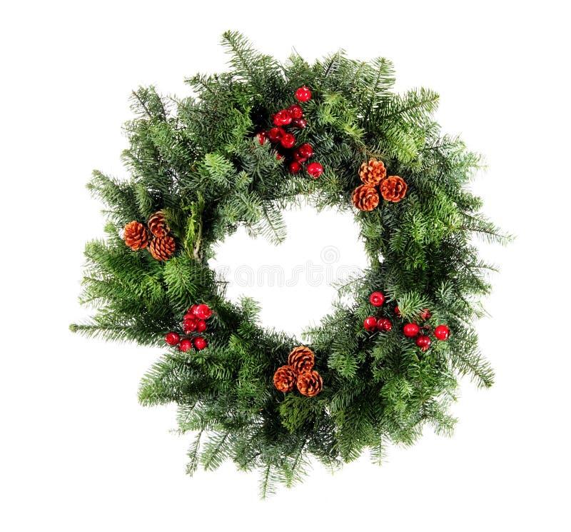 Christmas Wreath Isolated stock photos