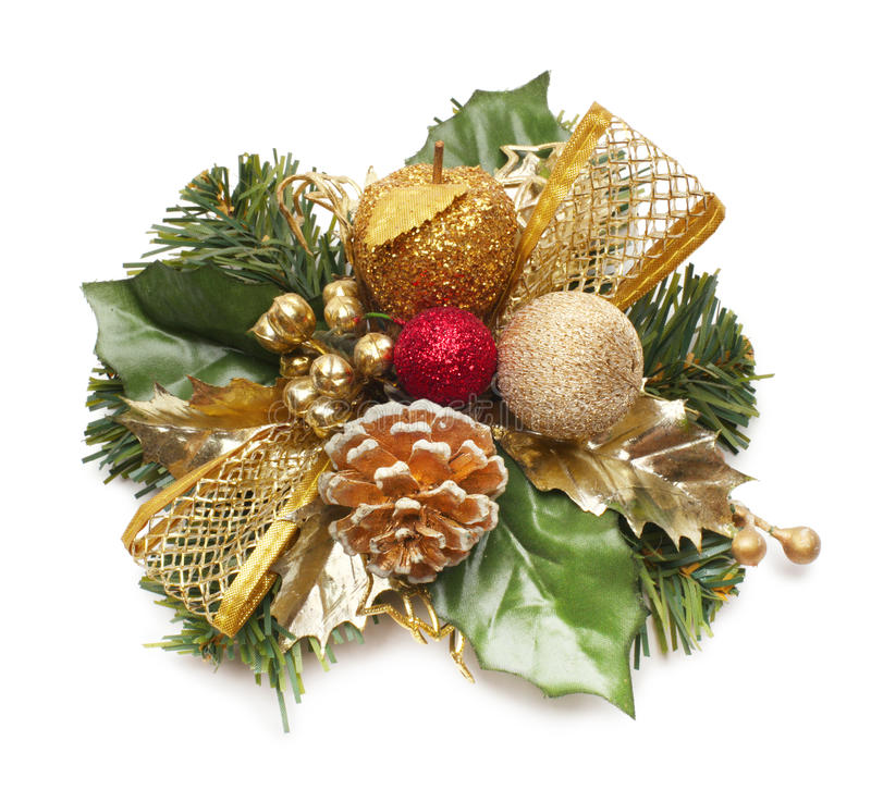 Download Christmas Wreath Isolated On White Stock Image - Image: 15748521