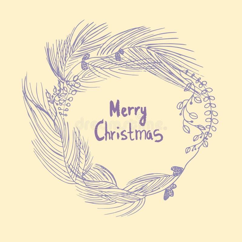 Christmas wreath Merry Christmas stock photos