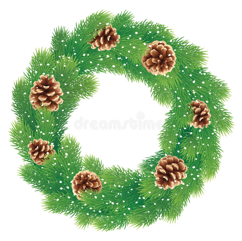 Download Christmas wreath stock vector. Illustration of celebration - 35149747