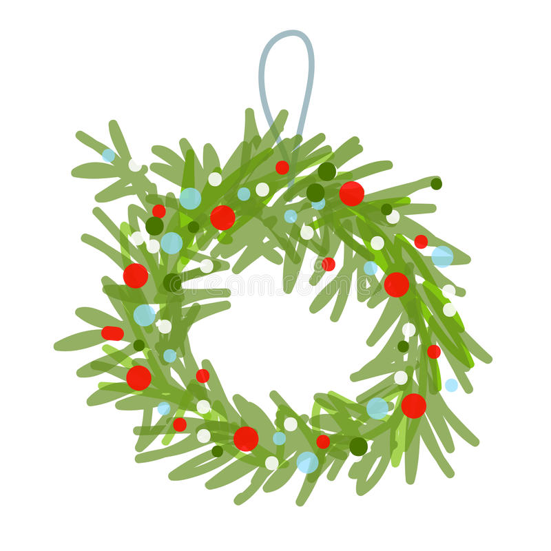 Free Christmas Wreath Sketch For Your Design Stock Photo - 31535280