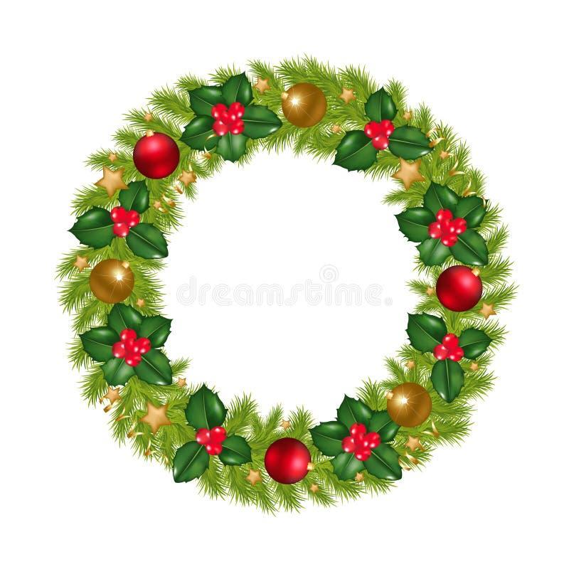 Christmas Wreath. Vector vector illustration