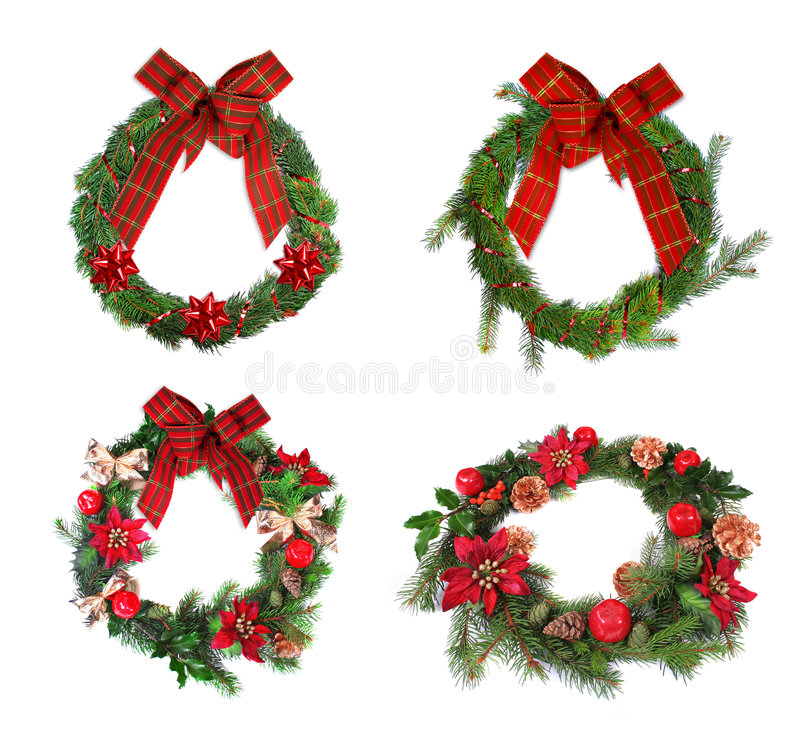 Christmas Wreaths stock images