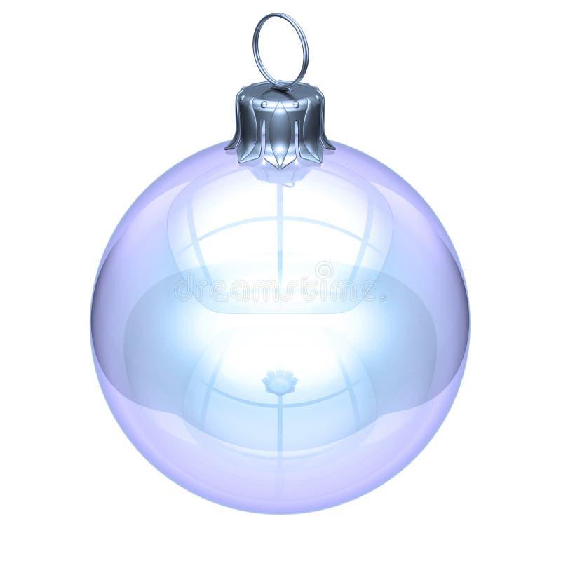 Christmas Xmas ball decoration white glass translucent royalty free stock photography